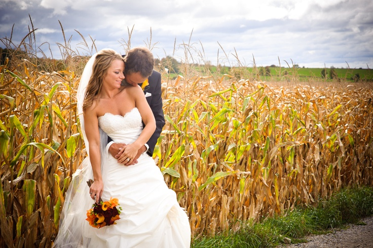 """Wedding in a corn field"" by Jesse James Photography, via 500px."