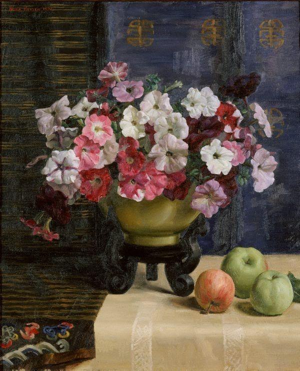 Petunias, (1930) by Nora Heysen.