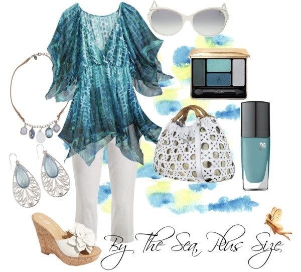 """""""By The Sea, Plus Size"""" by redheaded-diva on Polyvore"""
