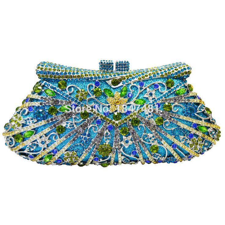 LaiSC women day clutches Luxury crystal ladies party bags pochette purse wallet wedding bridal diamante clutch evening bag sc194