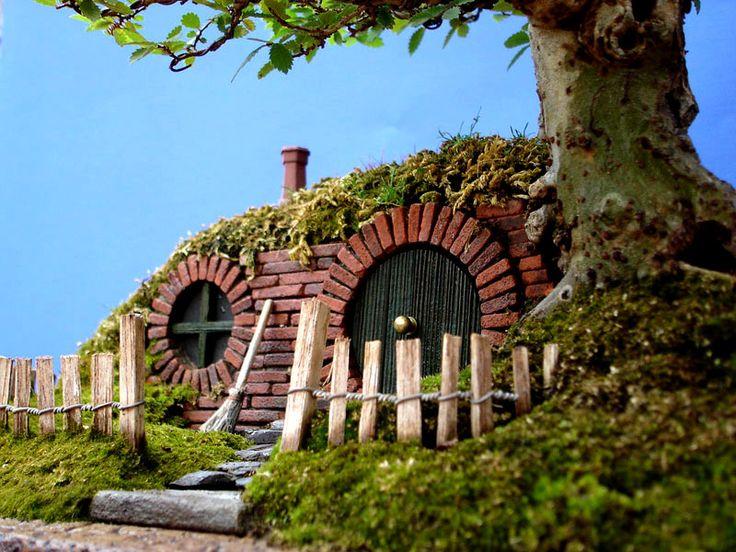 Charming Details Hobbit Beautiful Home Interiors With Unique Bonsai Ornamental  Plants · Fairy GardensMiniature GardensTree ... Amazing Ideas