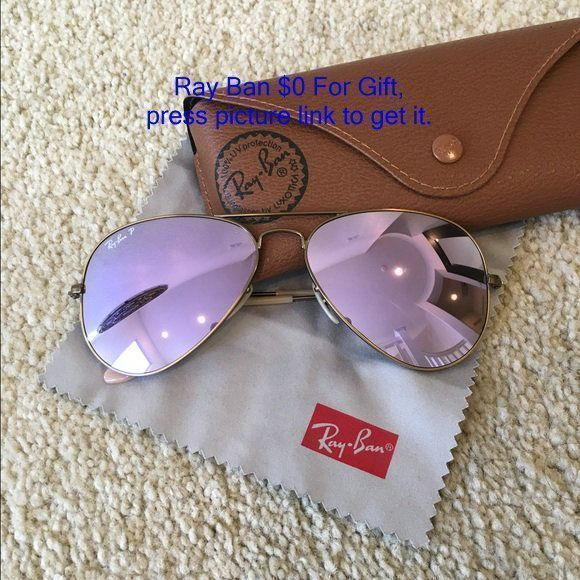 Ray-Ban Aviators Polarized RB 3025 Lilac Mirrorized Ray Ban Aviatiors mirrorized lilac size Large. RB 3025 167/1R 58 14 Gently loved, but lots of summer left in it!! Purchased at Sunglass Hut/Macys. Excellent condition, no scratches. Comes with original c