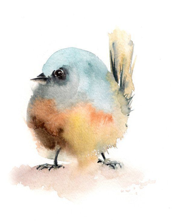 Ursprüngliche Aquarellmalerei des kleinen Vogels moderne Malerei des minimalist… – #Aquarellmalerei #des #kleinen #Malerei #mini
