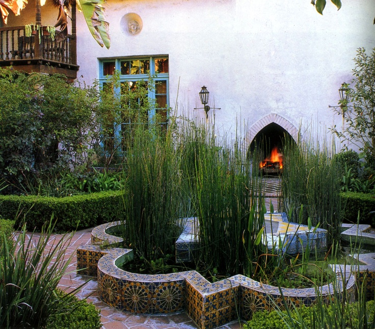 Spanish Garden In California