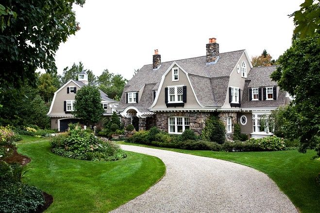 This 1900s shingle-style home in Brookline, Mass., has a yard planted with sod from the infield of Fenway Park. (Source: Sam Gray Photography)