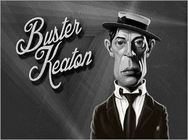 Rob Snow | caricatures - Buster Keaton art | decor | wall art | inspiration | caricatures | home decor | idea | humor | gifts