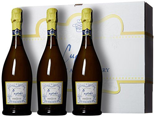 Cupcake Vineyards Happy Anniversary Bubbly Wine Gift Box, 3 x 750 mL