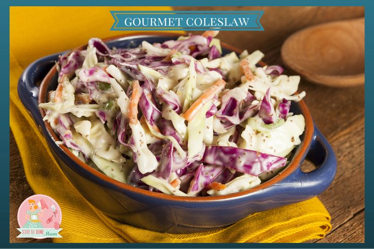 This Gourmet Coleslaw Recipe is a delicious summer salad that everyone will love!
