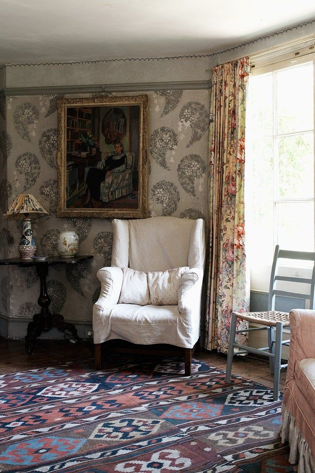 Nestled in bucolic Sussex gardens the seventeenth-century exterior belies the riot of imaginative decoration inside; a legacy of its function as artistic residence to the Bloomsbury Group.