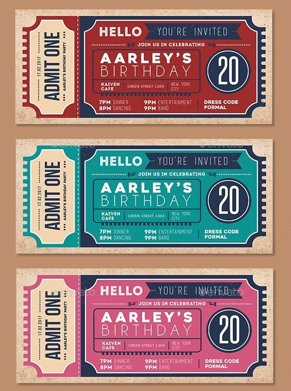 55 Print Ready Ticket Templates Psd For Various Types Of Events Check More At Https