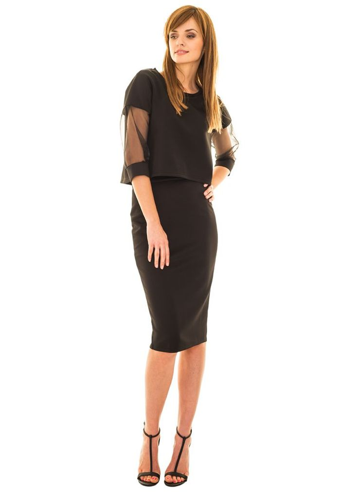 Pencil skirt black, http://modomania.o12.pl/jak-nosic-spodnice-olowkowa/