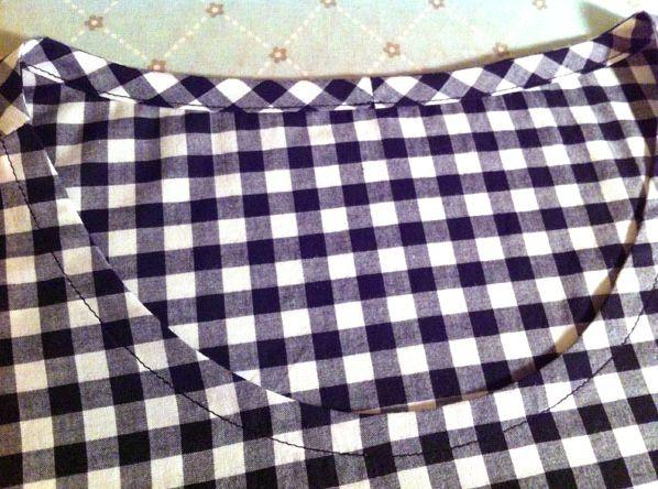 Bias tape for facing a neckline or armhole.  Simplified single fold bias method.