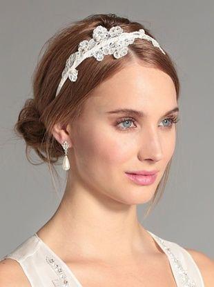 67% OFF Nina Women's Danica Swarovski Crystal and Lace Headband, Ivory