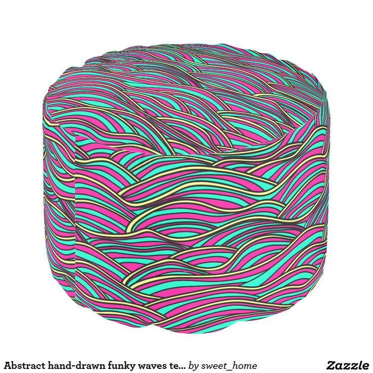 Abstract hand-drawn funky waves texture. pouf
