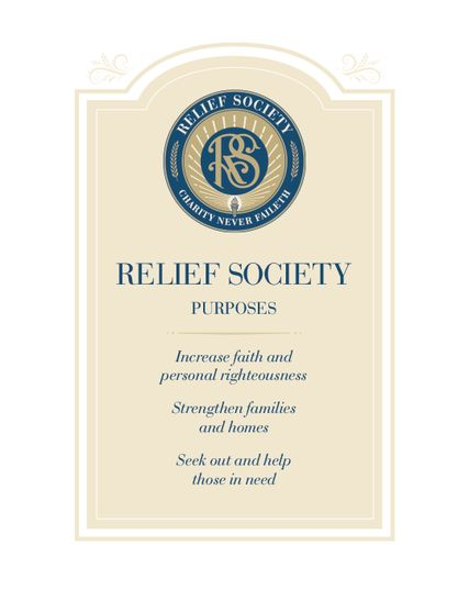 Purpose of Relief Society