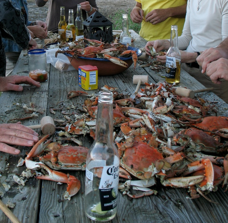 blue crabs & beer - perfect combo