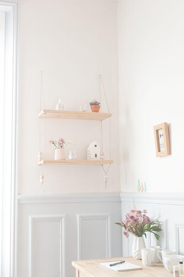 les 25 meilleures id es concernant tag res suspendus sur. Black Bedroom Furniture Sets. Home Design Ideas