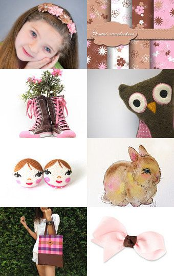 Girls and Flowers by Tatin on Etsy--Pinned with TreasuryPin.com