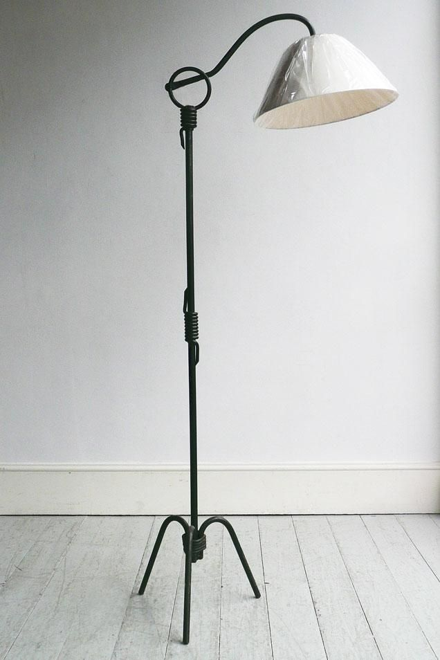 A Jean Royere Painted Wrought Iron Floor Lamp Base At Woven Howe