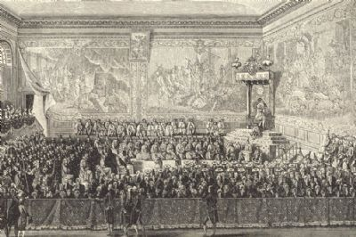 18C FRANCE: The Bed of Justice Held at Versailles 1776; after Girardet;1876