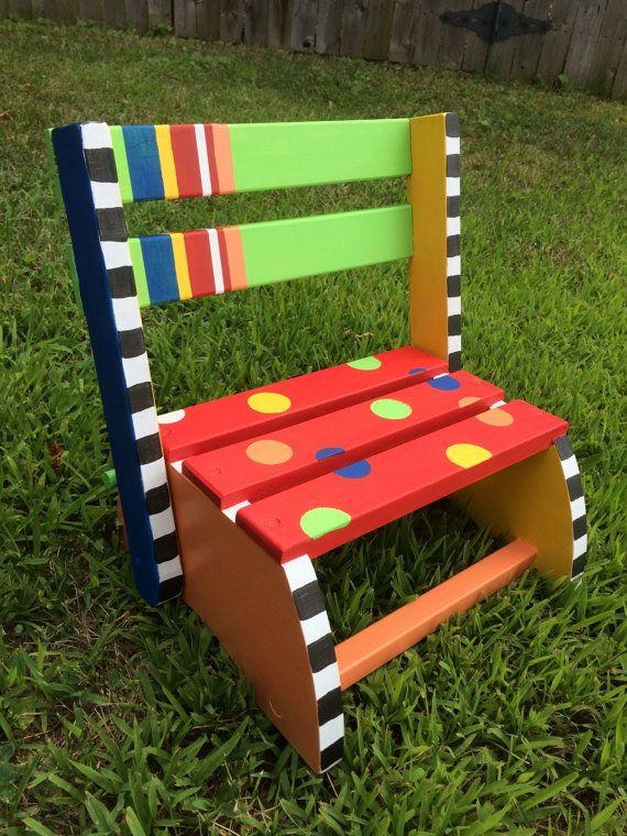 Handpainted Child S Step Stool On Etsy Fun Furniture