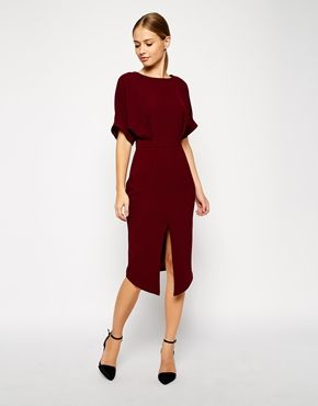 Enlarge ASOS TALL Wiggle Dress with Wrap Back and Split Front