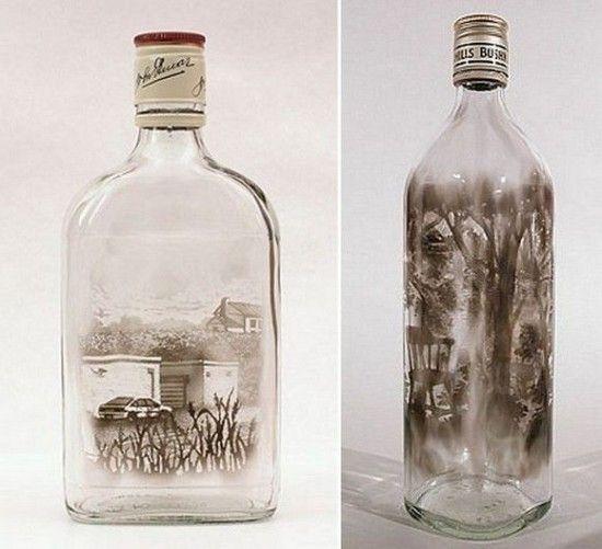 The Bottled Smoke Artworks of Jim DingilianCandles Smoke, Smoke Art, Artworks, Jimdingilian, Glasses Art, Empty Bottle, Artists Jim, Bottle Art, Jim Dingilian