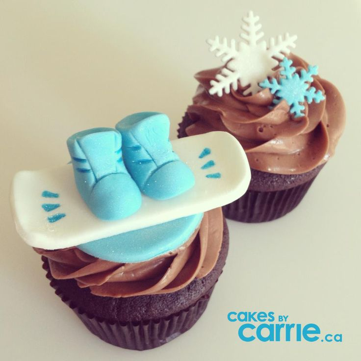 Snowboards & Snowflakes www.cakesbycarrie.ca