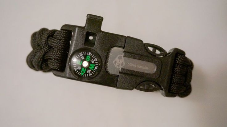 4-in-1 Survival Paracord Bracelet Outdoor Compass Flint Fire Starter Whistle | Sporting Goods, Outdoor Sports, Camping & Hiking | eBay!