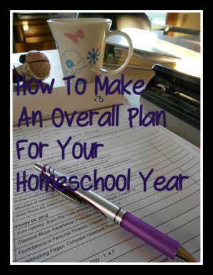 How to Make an Overall Plan. Really informative blog post on planning out the school year.