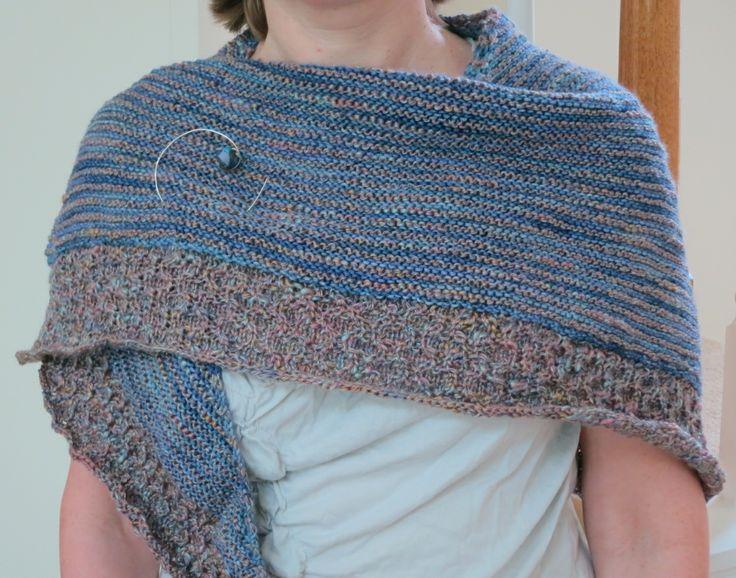 Textured Heart Knitting Pattern : Free Knitting Pattern: Lightweight Textured Shawl Shawl ...