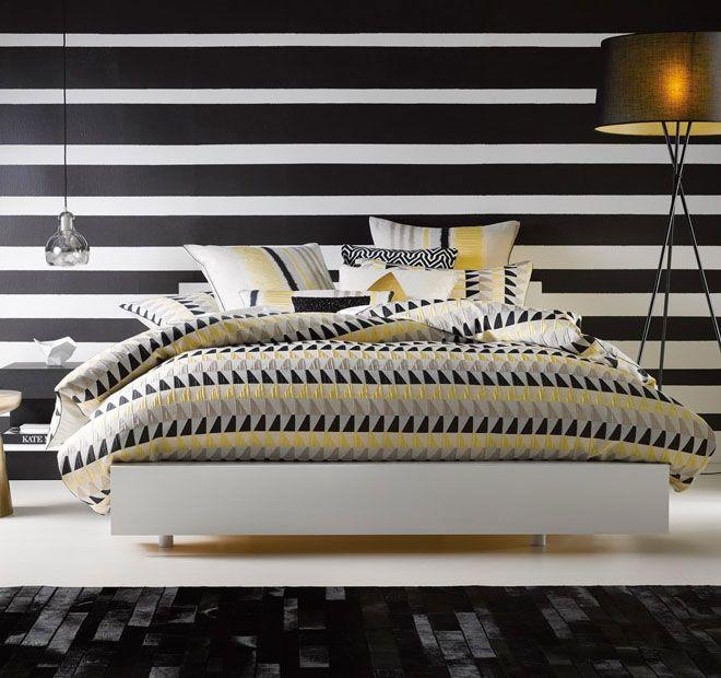 Linen House Lifestyle Ryder Super King Bed Quilt Cover Set Black