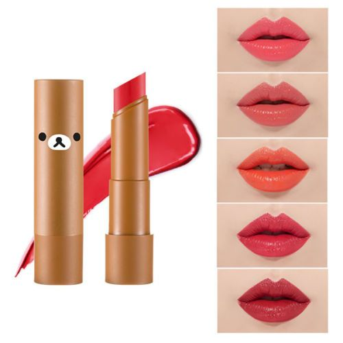 [A'PIEU] Mellow Lipstick (Rilakkuma Edition) 3.5g / 6 Color Lipstick NEW     Feature A'PIEU x Rilakkuma Edition ! Melting texture that express smooth volume lips. Rich and pure color. Moisture base deliver light sense of use.     Color option #CR03 #CR04 #OR03 #RD03 #RD04 #RD05     Volume 3.5g     Weight 35g     How to use Apply an even layer to clean lips. Reapply as needed.