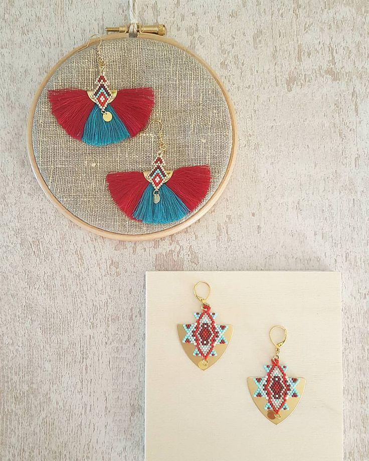 Version plus colorée des BO ☆Lien direct du e-shop dans la bio ☆ ________________________________ #handmade#jenfiledesperlesetjassume#miyukibeads #rouge #bouclesdoreilles #brickstitch #peyote #boheme #boho #instafashion #instamode #diy #jewelry #madewithlove #madeinfrance #faitmain #handmade #createurfrancais #createur #bijoux #bijouxcreateur #artisan #artisanat
