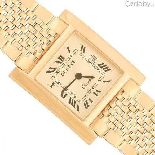 Męski zegarek wykonany z 14-karatowego złota