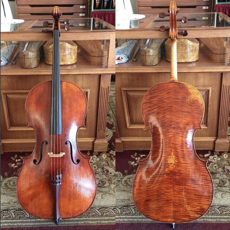 My latest Strad model cello is finally finished! It will soon be listed in our online catalog. #cello #strad #luthier #liuteria #Christiani #homage #stradivarius #cellist