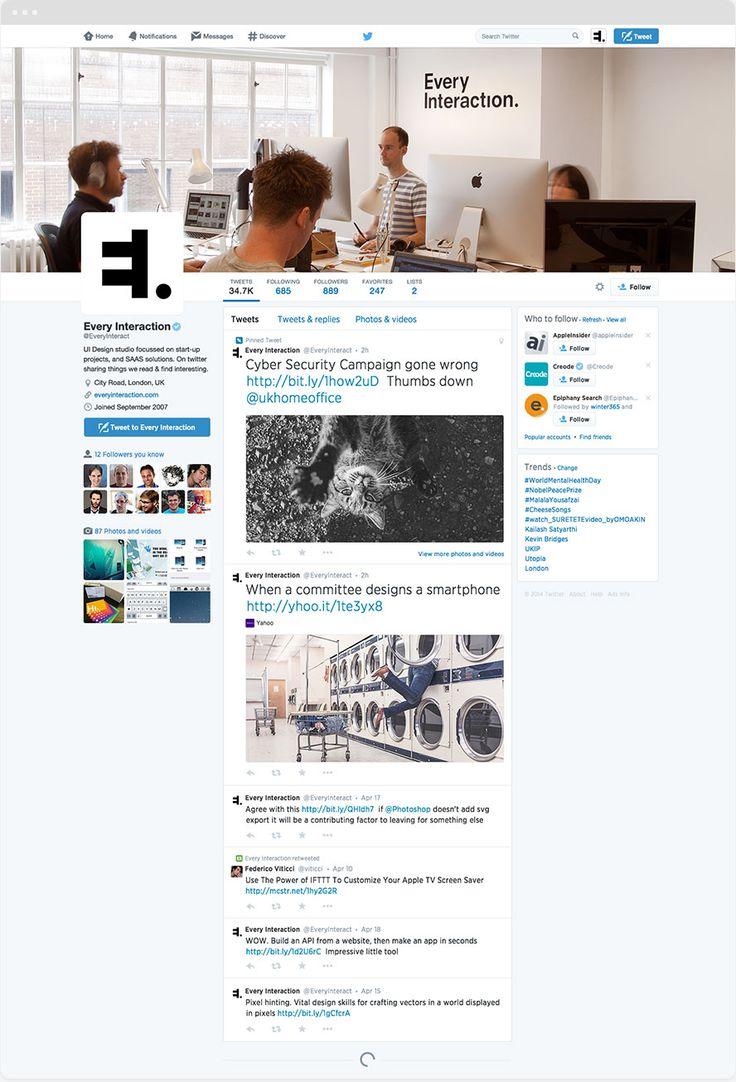 Twitter Profile Gui Psd Template Every Interaction Social Media Mockup Social Media Psd