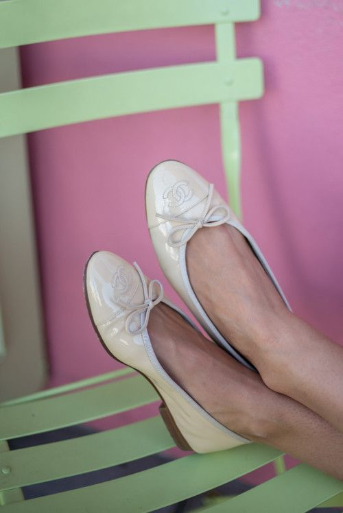 Nude Chanel Flats - Gal Meets Glam
