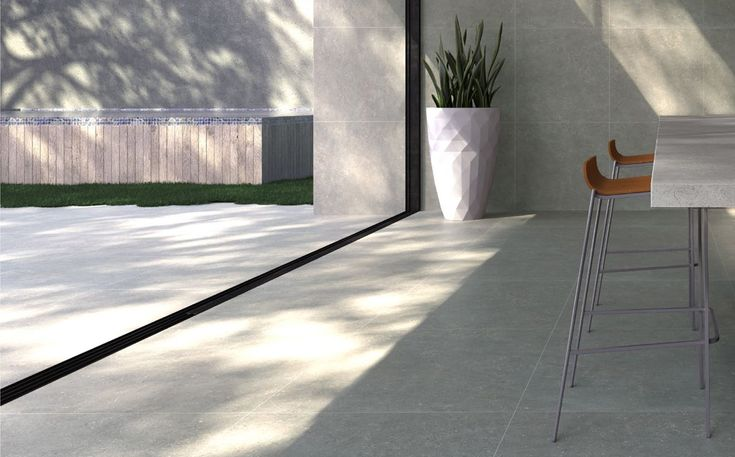 Limewash Storm - Tiles - Surface Gallery #greyfloortiles #floortiles #limestonetiles