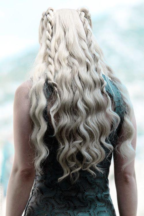 Daenerys Targaryen - I don't watch Game of Thrones at all, but -- that hair.