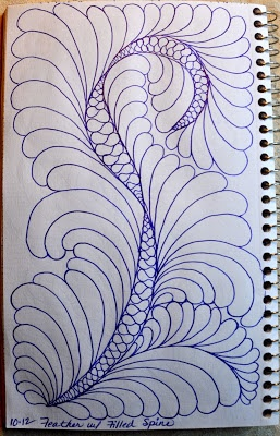 May Your Bobbin Always Be Full: Sketch Book....Feathers w/Filled Spines