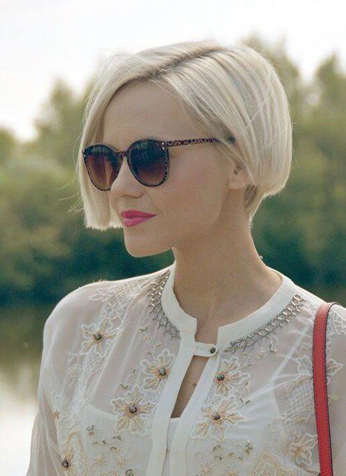 Verschiedene kurze blonde Bob-Frisuren #Shorthairstyles #crazyforus #blondehairs …