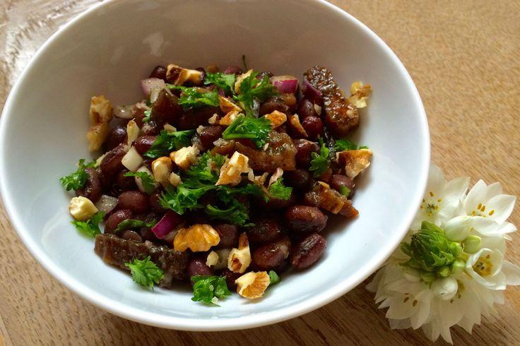 Recept voor een salade van adukibonen met abrikozen