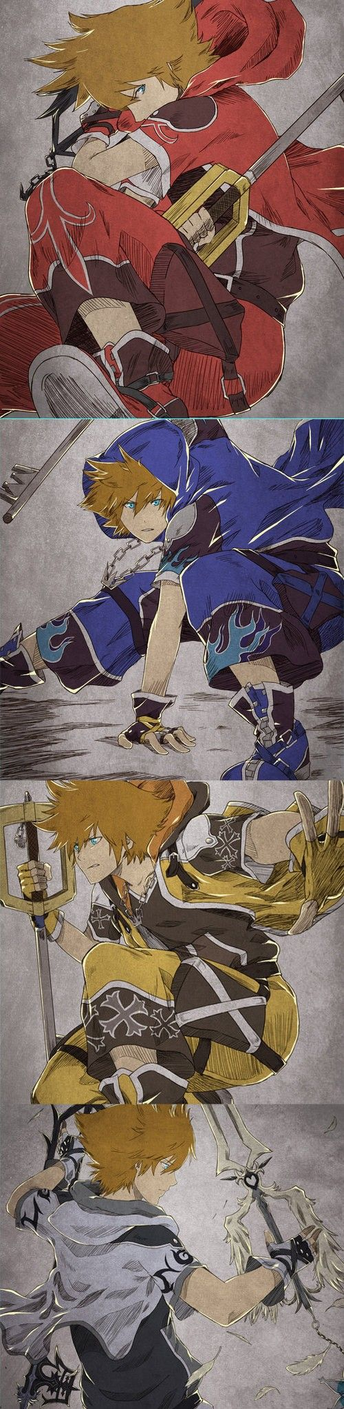Tumblr || KingdomKeySora: Kingdom Hearts Sora Fanart by MRLIPSCHUTZ