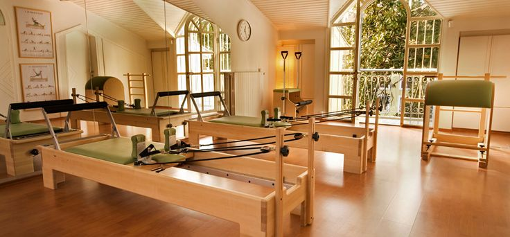 pilates gym within the pool house