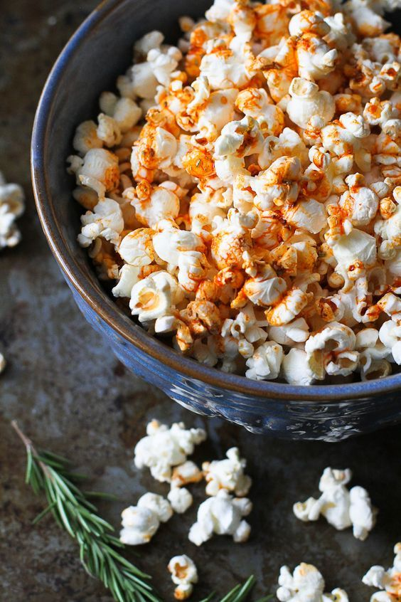 There is no resisting this Smoked Paprika & Rosemary Olive Oil Popcorn recipe!  It can be made in 5 minutes and is a fantastic whole grain snack.