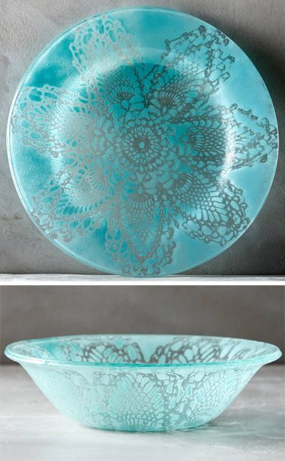 Frosted Doily Dinnerware & 164 best Teal turquoise aqua dinnerware images on Pinterest | Dishes ...