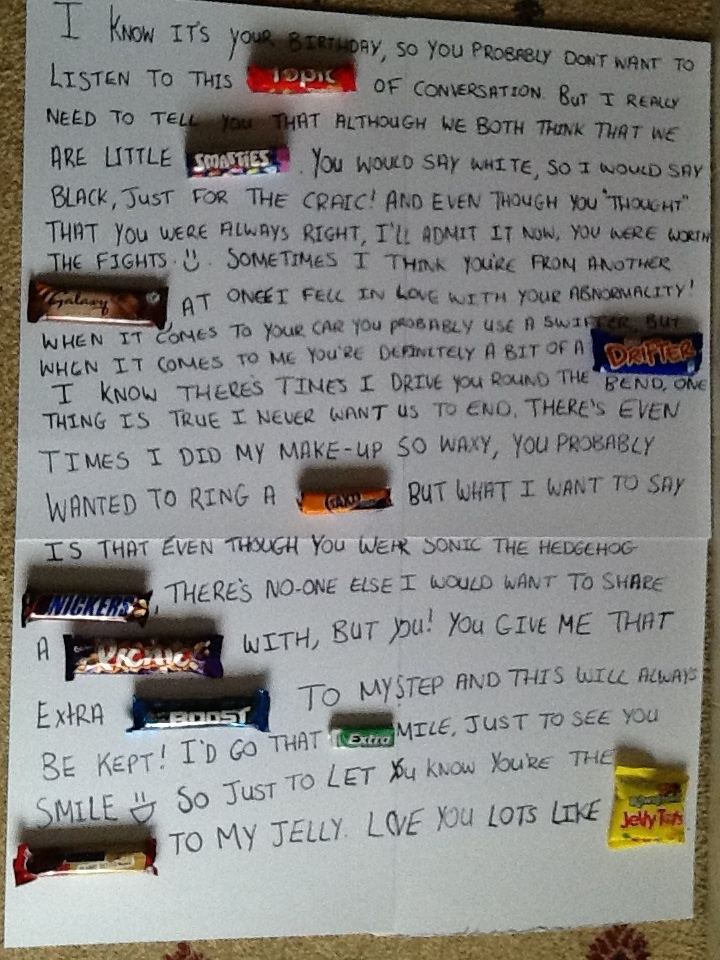 Candy Letter For Boyfriend Valentines Day Gift For Himdiyidea By