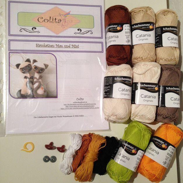 Siamkatzen Max und Mixi crochet Häkel-Set  PDF made by Colita via DaWanda.com