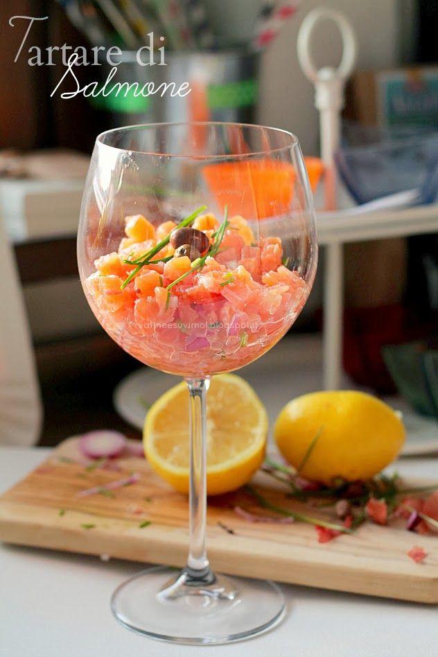 Tartare di salmone e Med Diet Camp